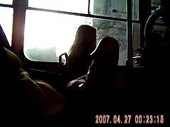 Трогает в автобусе 1 фотография