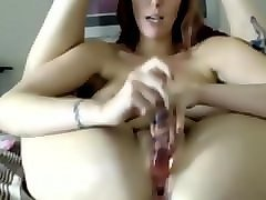 who is she??? clit piercing, big boobs, tattooed, toy anal and pussy, dp